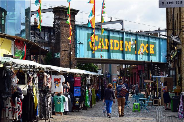 Lock market Camden Town